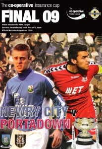The programme cover from the CIS Cup final in 2009