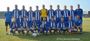 The Newry CIty AFC squad that played Cliftonville on Thursday night. Photo: Brendan Monaghan