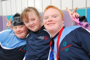 Newry City AFC Special Olympics athletes Katrina, Rebecca and Fergal