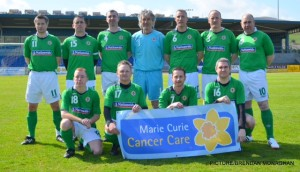 The NI Over 40 side that played Newry United Over 35s on Sunday