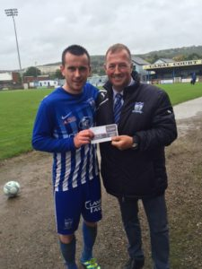 Man of the Match Mark Hughes, Sponsored by Hughes BET.