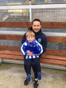 Mascot Caden with his uncle & Manager Darren Mullen
