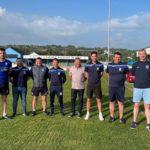 Academy Coaches with Chairman Martin McLoughlin